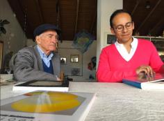 Visita al artista Estuardo Maldonado