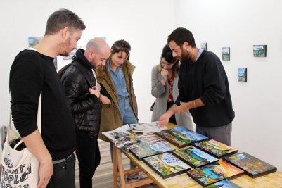 Visita a Diego Vites artista residente en No Lugar