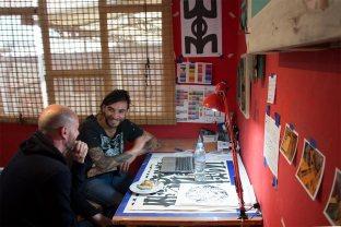 Visita al taller de Ache Vallejo
