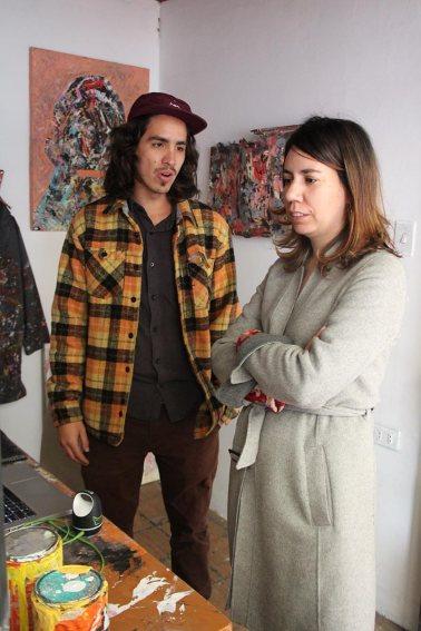 Visita al taller de Pedro Álvarez