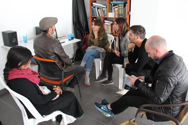 Visita a José Luis Macas y Manai Kowi
