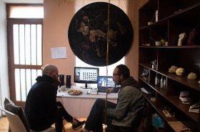 Visita al taller de Daniel León (PalaMinga)