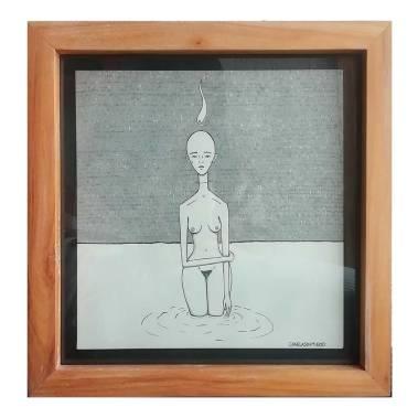 Mar Demente |Canela Sin Miedo | Tinta china y marcador sobre papel | 29.5 x 29.5 cm | 120 USD