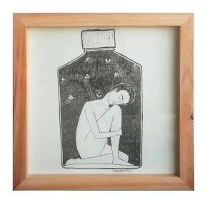 Pobreza Narcisa | Canela Sin Miendo | Tinta china y rapidografo sobre papel 29.5 x 29.5 cm | 120 USD