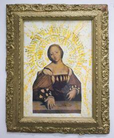 ST | Con C de Caro | Collage tipográfico, tinta sobre papel | 55 x 45 cm | 2019 | $150