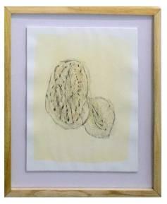 ST (proceso de un movimiento) | Dayana Garrido | Técnica mixta dibujo fróttage y pintura acrílica, lápices de colores crayón y objetos encontrados | 25x40 cm | 2019 | 180 USD