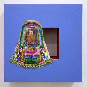 Micromachismos #4 | Diana Gardeneira | Técninca mixta, pintura sobre madera y lienzo | 2ox20x5 cm | 2019 | 135 USD
