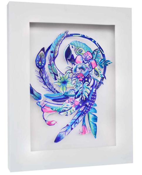 Guacamayo Azul (Serie Selva)| Mo Vasquez | 42x60 cm | 2018 | 200 USD