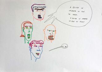 ST | Jose M. Oliverira | Tinta sobre papel | 21x30 cm | 100 USD (sin marco)
