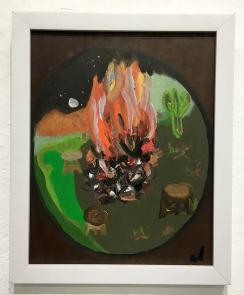 ST (Fuego interior) | Paula Arias | Acrílico sobre lienzo | 21x30 cm | 2020 | 120 USD