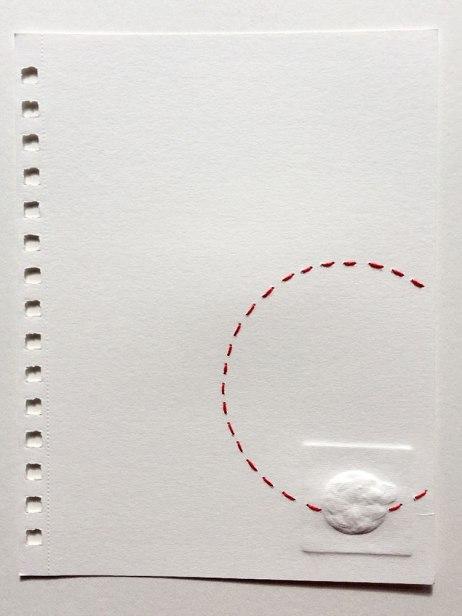 Sol | Pamela Suasti | Gofrado y bordado sobre papel | 21x15 cm | 2020 | 200 USD (Sin marco)