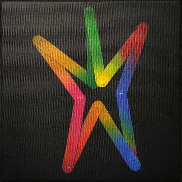 Patricio Palomeque | Todas las palabras 1 ( prueba de color ) | Impresión UV y acrílico sobre lienzo | 20x20 cm (bastidor) | 2020 | 150 USD