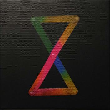 Patricio Palomeque | Todas las palabras 2 ( prueba de color ) | Impresión UV y acrílico sobre lienzo | 20x20 cm (bastidor) | 2020 | 150 USD