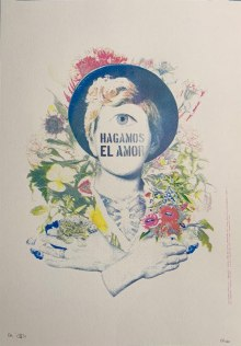 Hagamos El Amor | Pame Pinto | 32x45 cm | Serigrafía, cuarticromía (Barcelona) P/A | 2017 | 50 USD