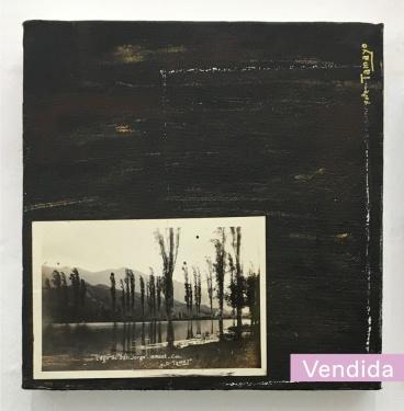 ST | Juanca Vargas | Óleo y fotografía de archivo sobre lienzo | 20x20 cm | 2018 | 120 USD