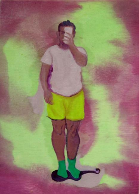 20 casas en 27 años | Stephano Espinoza | Pintura sobre madera | 50x40 cm | 2019 | 200 USD