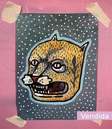 Gato | Pinocho | Óleo sobre lienzo (Sin marco) | 15x20 cm | 2020 | 100 USD